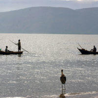 Fishermen on lake Albert